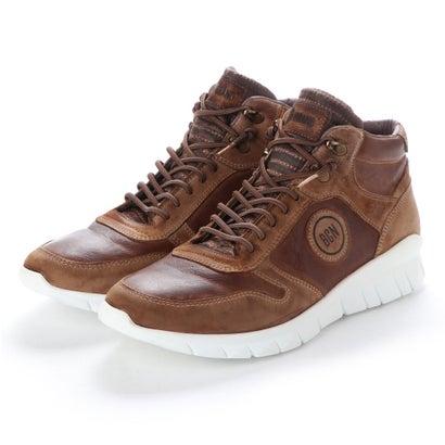 【アウトレット】ヨーロッパコンフォートシューズ EU Comfort Shoes BCN ハイカットスニーカー(C-1040) (ダークブラウン)