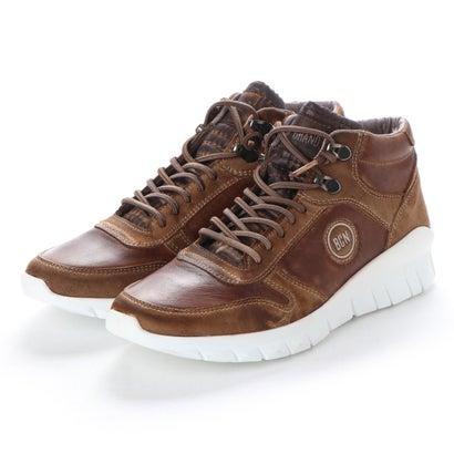 【アウトレット】ヨーロッパコンフォートシューズ EU Comfort Shoes BCN ハイカットスニーカー(C-1040F) (ダークブラウン)