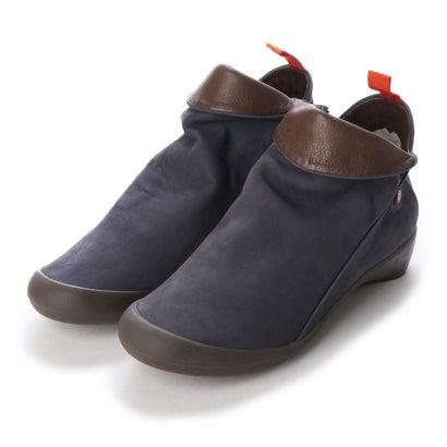 【アウトレット】ヨーロッパコンフォートシューズ EU Comfort Shoes Softinos ショートブーツ(900.085) (ネイビー)