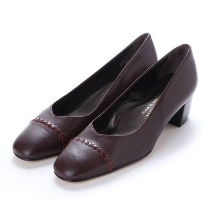 【アウトレット】ヨーロッパコンフォートシューズ EU Comfort Shoes looky スクエアトゥパンプス(4562) (ワイン)