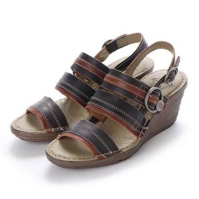 ヨーロッパコンフォートシューズ EU Comfort Shoes FLYLONDON サンダル(300.631) (ブラック)