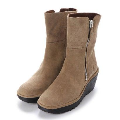 【アウトレット】ヨーロッパコンフォートシューズ EU Comfort Shoes FLYLONDON ショートブーツ(500.668) (カーキ)