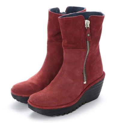 【アウトレット】ヨーロッパコンフォートシューズ EU Comfort Shoes FLYLONDON ショートブーツ(500.668) (ワイン)