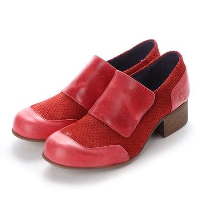 【アウトレット】ヨーロッパコンフォートシューズ EU Comfort Shoes FLYLONDON ドレスシューズ(142.555) (レッド)
