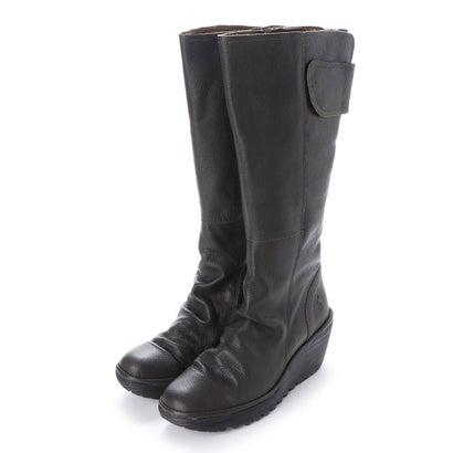 【アウトレット】ヨーロッパコンフォートシューズ EU Comfort Shoes FLYLONDON ロングブーツ(500.688) (ダークグレー)