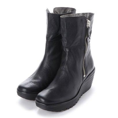 【アウトレット】ヨーロッパコンフォートシューズ EU Comfort Shoes FLYLONDON ショートブーツ(500.668) (ブラック)