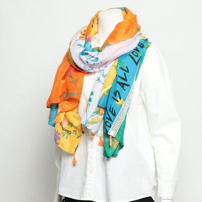 デシグアル Desigual スカーフ PATCH LOVE (オレンジ)