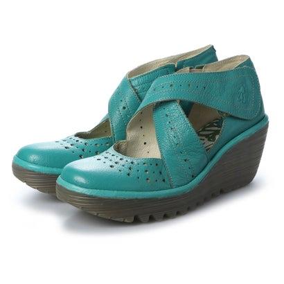 【アウトレット】ヨーロッパコンフォートシューズ EU Comfort Shoes FLYLONDON サンダルパンプス(500.438) (スカイブルー)