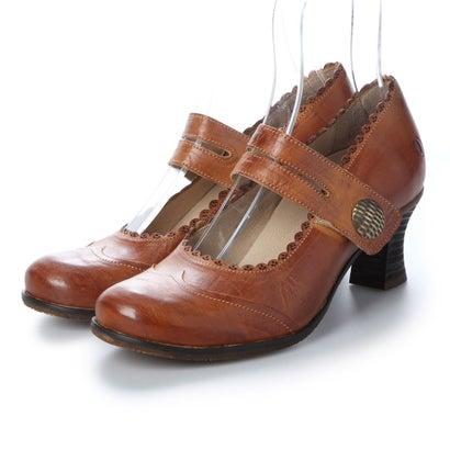 【アウトレット】ヨーロッパコンフォートシューズ EU Comfort Shoes Casta 1本ベルトパンプス(CT100320) (ブラウン)