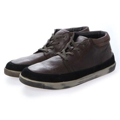 【アウトレット】ヨーロッパコンフォートシューズ EU Comfort Shoes Softinos ハイカットスニーカー(900.419) (ダークブラウン)
