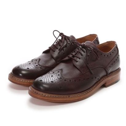 ロンドンシューメイク London Shoe Make グッドイヤーウエルトオールレザーハンドメイド外羽根ウィングチップ(バーガンディー)