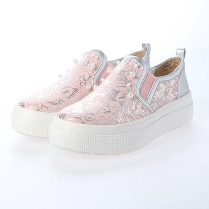 コカ COCA パール飾り付き キラキラ 厚底 スリッポン (ピンク)