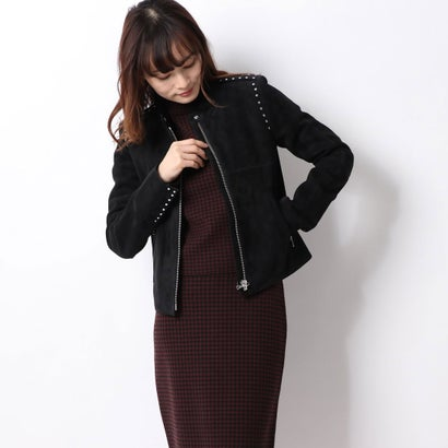 リネーム Rename スタッズデザインスエードジャケット (ブラック)