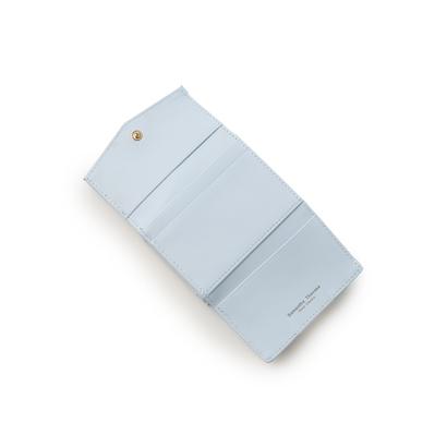 サマンサタバサプチチョイス フラワーモチーフシリーズマルチカラーバージョンがま口折財布 ライトブルーH2ED9I
