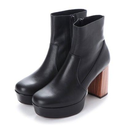 アシナガオジサン あしながおじさん 厚底ブーツ (ブラック)
