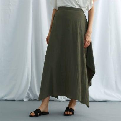 ジェット ニューヨーク JET NEWYORK 【ウォッシャブル】ヴィンテージワッシャーデザインスカート (カーキ)