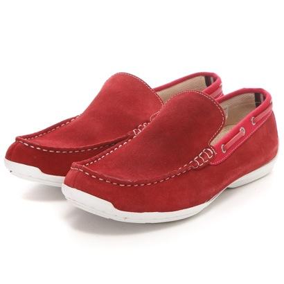 SHOE、PLAZA CedarCrest CEDAR CREST书皮革懒汉鞋运转鞋(红)
