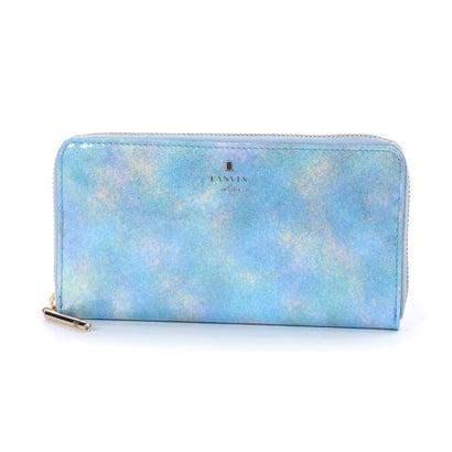 ランバン オン ブルー LANVIN en Bleu ルパン ラウンドファスナー長財布 (ブルー)