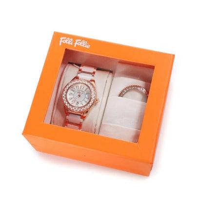 【アウトレット】フォリフォリ Folli Follie CERAMIC 4SEASONS チェンジャブルウォッチ/腕時計 (ホワイト)