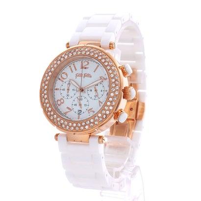 フォリフォリ Folli Follie BEAUTIME クロノグラフセラミックウォッチ/腕時計 (ホワイト)