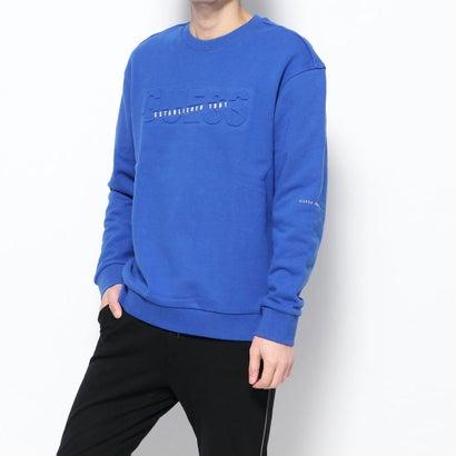 ゲス GUESS Unisex Emboss Logo Sweat (BLUE)
