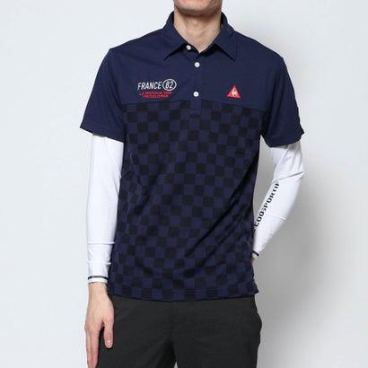 ルコックゴルフ le coq GOLF メンズ ゴルフ セットシャツ ハンソデシヤツ(ニツト) QGMPJA04W
