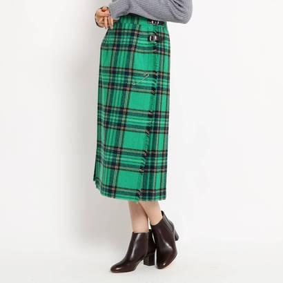 デッサン Dessin ◆【Dessin別注カラー Sサイズあり】O'NEIL OF DUBLIN チェックラップスカート (モスグリーン)