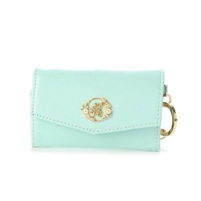サマンサタバサプチチョイス フラワープレートシリーズミニ財布(四角型) ミント