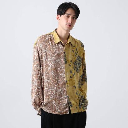 ティーケー タケオ キクチ tk.TAKEO KIKUCHI マルチペイズリービッグシャツ (マスタード)