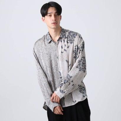 ティーケー タケオ キクチ tk.TAKEO KIKUCHI マルチペイズリービッグシャツ (グレー)