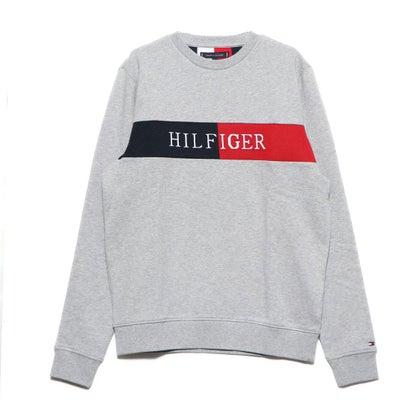 トミーヒルフィガー TOMMY HILFIGER 【オンライン限定】インターシャロゴスウェット (グレー)