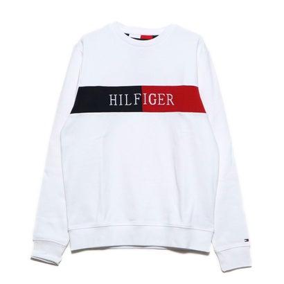 トミーヒルフィガー TOMMY HILFIGER 【オンライン限定】インターシャロゴスウェット (ホワイト)
