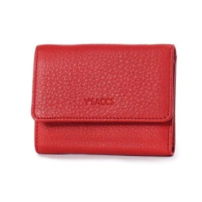イザック YSACCS 三つ折りミニ財布 (レッド)