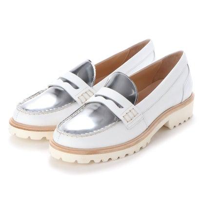 ヨーロッパコンフォートシューズ EU Comfort Shoes Palanti ローファー(1574) (ホワイト×シルバー)