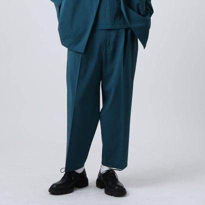 ティーケー タケオ キクチ tk.TAKEO KIKUCHI バーグマンストレッチワイドテーパードパンツ (ブルー)