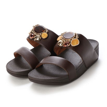 フィットフロップ fitflop ROSA CLUSTER SLIDES (Chocolate Brown)