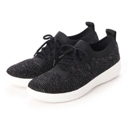 【アウトレット】フィットフロップ fitflop F-SPORTY UBERKNIT SNEAKERS - CRYSTAL (Black)