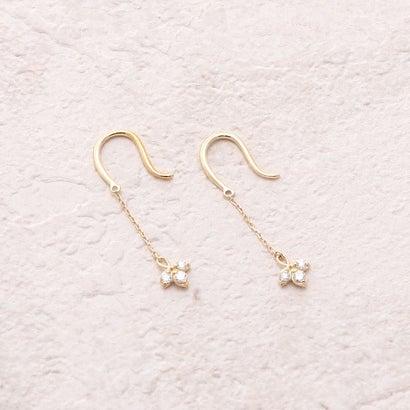 ソーイ sowi 【K10YG】ミツバ・ダイヤモンドピアス (ゴールド)