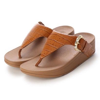 フィットフロップ fitflop LOTTIE CROCO TOE-THONGS (Light Tan)