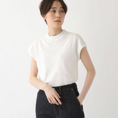 ドレステリア DRESSTERIOR 【洗える】リネン裏毛ラウンドネックプルオーバー (ホワイト)