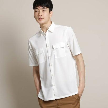 ドレステリア DRESSTERIOR 《吸水速乾》《洗える》カノコ羽織りシャツ (ホワイト)