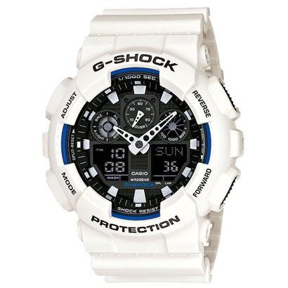 【G-SHOCK】デジタル&アナログ / GA-100B-7AJF / Gショック (ホワイト×ブラック)