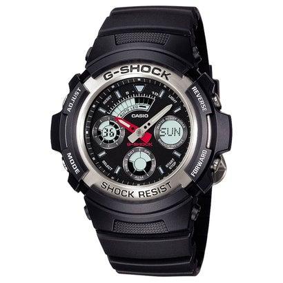 【G-SHOCK】ベーシックモデル / AW-590-1AJF / アナログ/デジタル / Gショック (ブラック×シルバー)