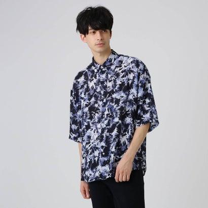 ティーケー タケオ キクチ tk.TAKEO KIKUCHI クラッシュプリントオーバーシャツ (ネイビー)