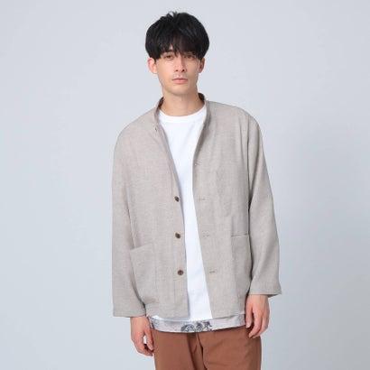 ティーケー タケオ キクチ tk.TAKEO KIKUCHI リネン風マオカラーシャツ (ベージュ)