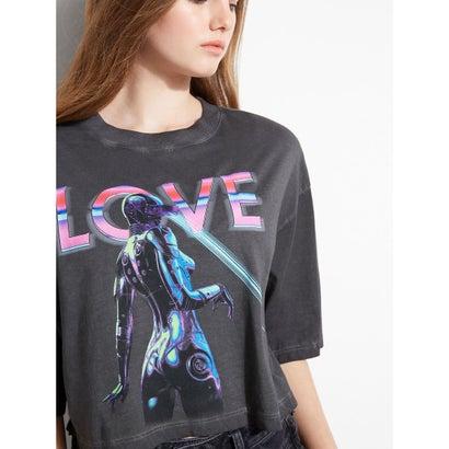 ゲス GUESS Eco Virtual Love TeeJET BLACK MULTINk0XwOP8n