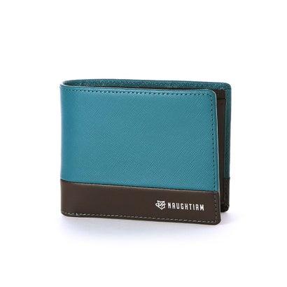 ノーティアム NAUGHTIAM NAUGHTIAM(ノーティアム)サフィアーノコンビシリーズ 二つ折り財布 (ブルー)