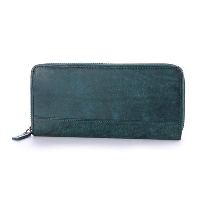 ノーティアム NAUGHTIAM NAUGHTIAM(ノーティアム)プエブロレザーシリーズ ラウンド財布 (ブルー)