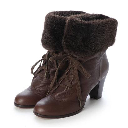 【アウトレット】シューズラウンジ shoes lounge 【本革】ショートブーツ(ブラウン) 3187184DBR (ブラウン)