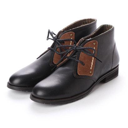 【アウトレット】シューズラウンジ shoes lounge 【本革】ショートブーツ 25K8504B (ブラック)